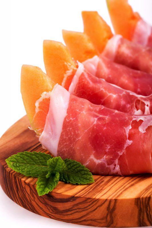 Recette jambon cru et melon charantais
